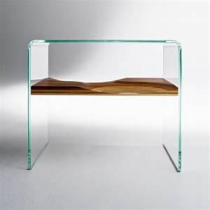 Table De Chevet Verre : table de chevet bifronte transparent horm ~ Teatrodelosmanantiales.com Idées de Décoration