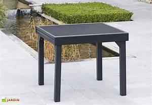 Petite Table En Verre : table de jardin extensible modulo 90x90 180x72cm l l h 4 coloris wilsa ~ Teatrodelosmanantiales.com Idées de Décoration