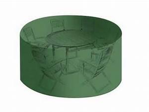 Bache Table De Jardin : housse salon de jardin ronde pvc haute r sistance ~ Teatrodelosmanantiales.com Idées de Décoration