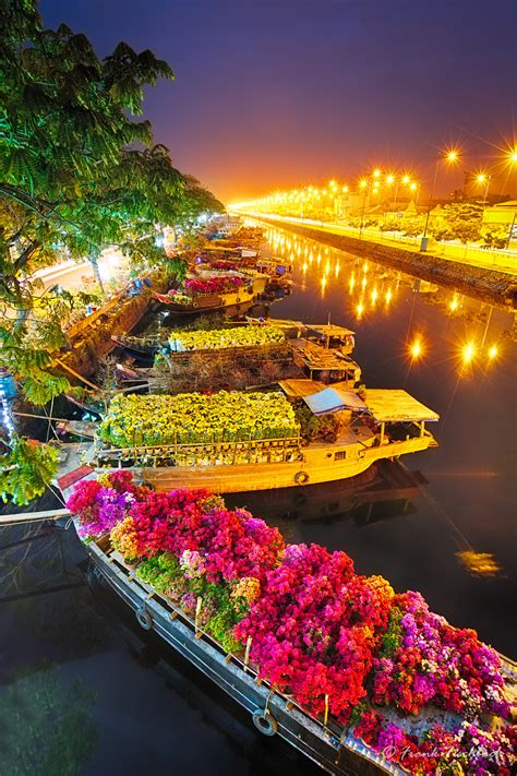 Ships At Saigon Flower Market At Tet Vietnam By Frank