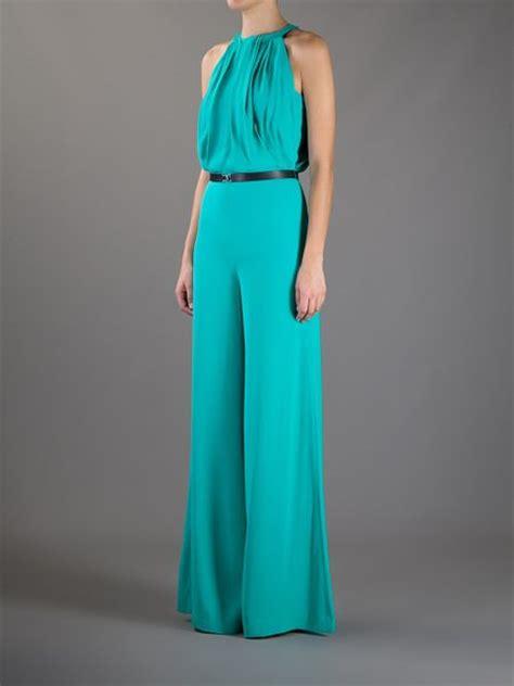 turquoise jumpsuit tara jarmon sleeveless jumpsuit in green turquoise lyst