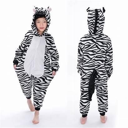 Onesie Animal Zebra Party Halloween Pajama Costumes