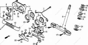 Honda Motorcycle 1984 Oem Parts Diagram For Steering Stem