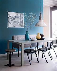 Deco Bleu Canard : 1001 id es d co salon bleu canard paon p trole du goudron et des plumes ~ Teatrodelosmanantiales.com Idées de Décoration