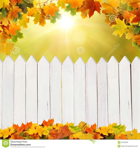 Plant Wall Decor by Autumn Background With Fence Stock Photos Image 33130253