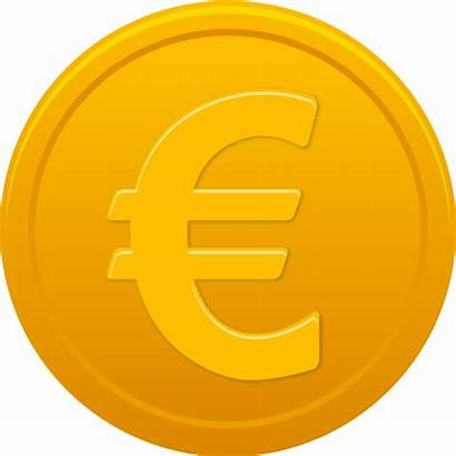 Euro Symbol Sign Coin Icon Clipart Ico