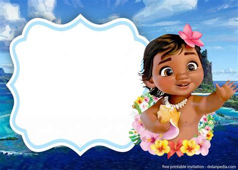 printable moana invitation templates dolanpedia