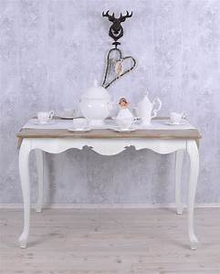 Tischplatte 120x80 Weiß : nostalgischer esstisch k chentisch 120x80 tisch weiss antik holztisch ~ Markanthonyermac.com Haus und Dekorationen