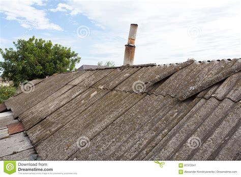 asbestos  dangerous roof tiles stock image image