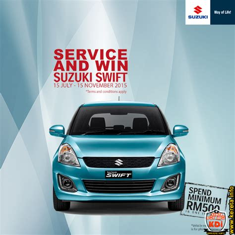 Suzuki Car Service by Suzuki Car Service And Win Promo At Any Suzuki Service