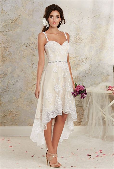 2016 Vintage High Low Country Wedding Dresses Cheap New