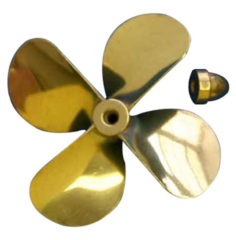 Boat Propeller Right Or Left by Brass Prop 4 Blade Left 3 5 8 Dia