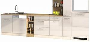 Küchenzeile Weiß Hochglanz : k chenzeile m nchen vario 3 k chen leerblock breite 340 cm hochglanz wei k che k chenzeilen ~ Indierocktalk.com Haus und Dekorationen