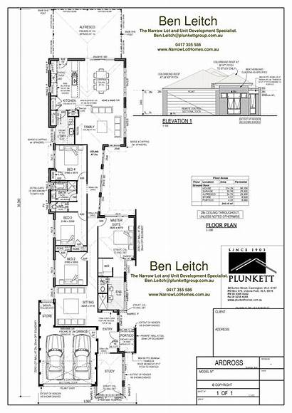 Plans Narrow Garage Lot Side Australia Luxury