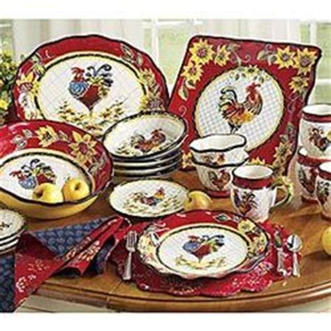 chanticleer rooster dinnerware love  dishes   pinterest roosters love
