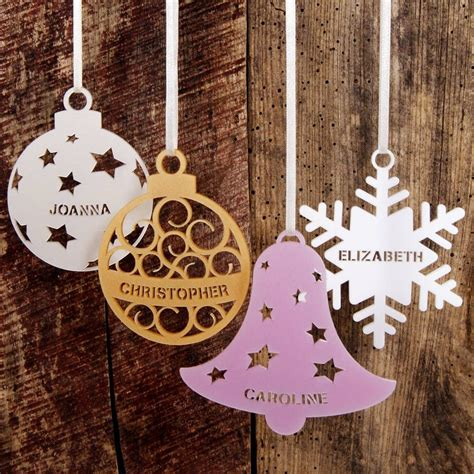 personalised christmas tree decoration random access