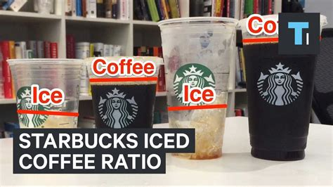 These 10 starbucks drinks are trending on tiktok for literally all of the right reasons. Starbucks Ice To Coffee Ratio - YouTube