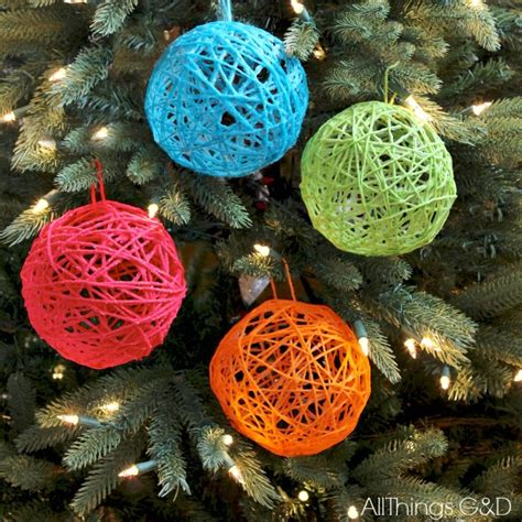 yarn ball ornaments all things g d