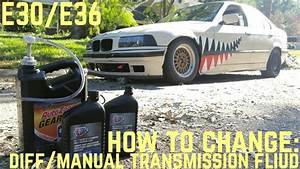 Differential  Manual Transmission Fluid Change Diy  E30  E36