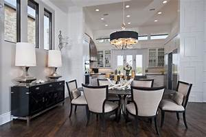 Neo Prairie Style Parade Home Transitional Dining Room