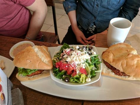 Sandwich And Salad Combo, Huge Portion. Pictured