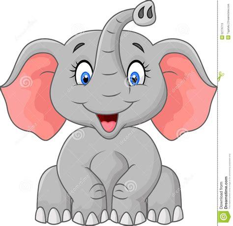 cartoon elephant sitting stock vector image