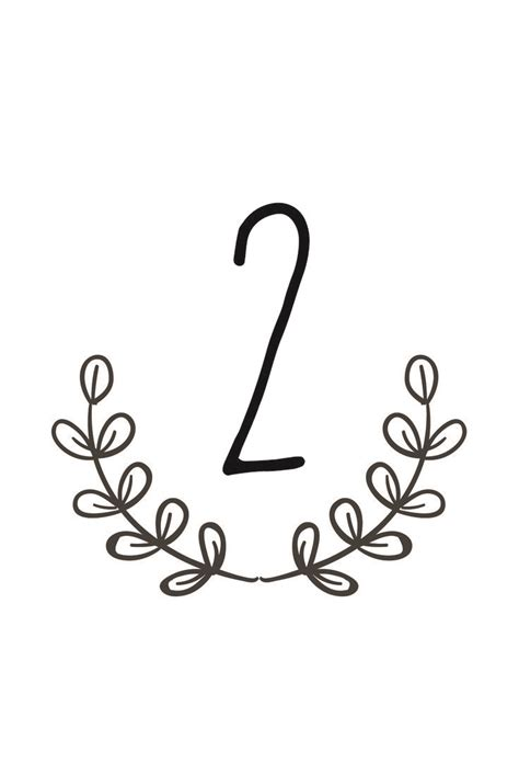 Best 25 Printable Wedding Table Numbers Ideas On
