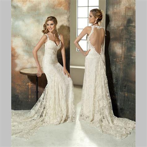 2016 lace wedding dresses vintage beach spaghetti strap