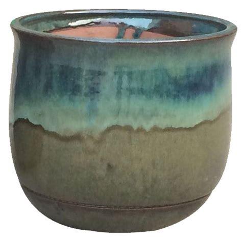 home depot planters 12 in dia multi color ceramic planter cr11183s 120b