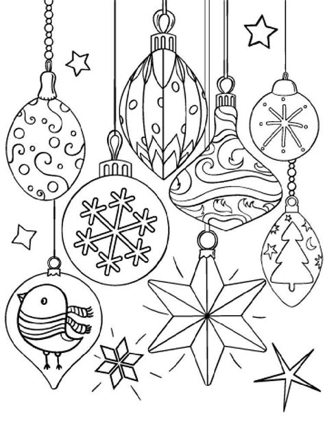 Christmas Decorations Coloring Pages Free Printable