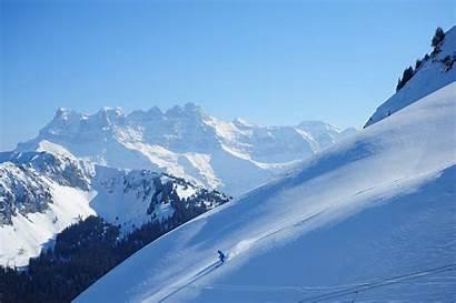 Ski Skiing Winter Snow Mountains Desktop Wallpapers