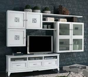 Rustikální obývací stěny