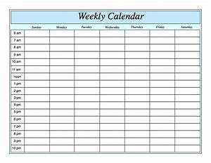 Weekly Calendar For Pages