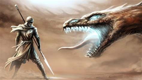 full hd wallpaper sand warrior dragon storm battle light