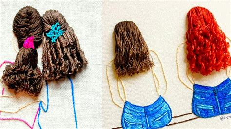 amazing embroidery hair embroidery design embroidery