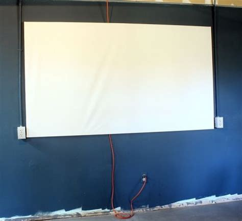 diy projector screen     home theater