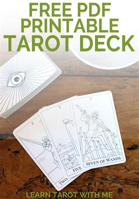 printable tarot deck tarot decks tarot cards  tarot