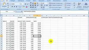 Abrechnung Rechner : formeln f r berechnungen von zeittakten mit excel youtube ~ Themetempest.com Abrechnung