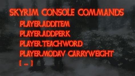 console codes skyrim skyrim cheats and console commands mmo eu