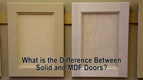 difference  solid wood  mdf cabinet doors youtube