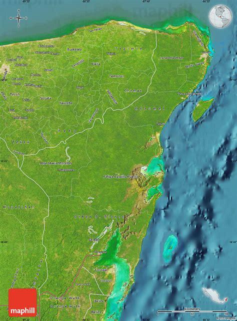 satellite map  quintana roo