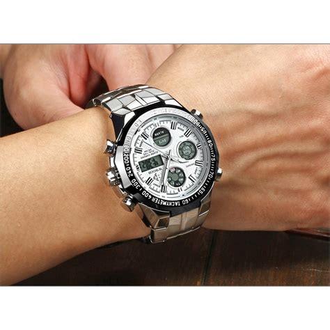 jam tangan pria diskon wwoor jam tangan luxury pria 8019 white black