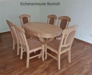 Esstisch Eiche Rustikal : eiche massiv tisch und stuhl eichenscheune bocholt ~ Whattoseeinmadrid.com Haus und Dekorationen