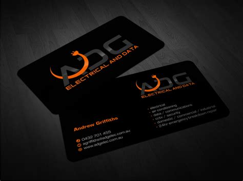 Serious, Modern, Electrical Business Card Design For A Business Cards With Resume On Back Card Stand Diy Team Real Estate Stock Definition Sign Holder Rounded Corners Or Not Unique Neenah Cardstock