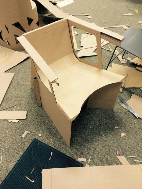 designing  functional cardboard chair  pinnovation