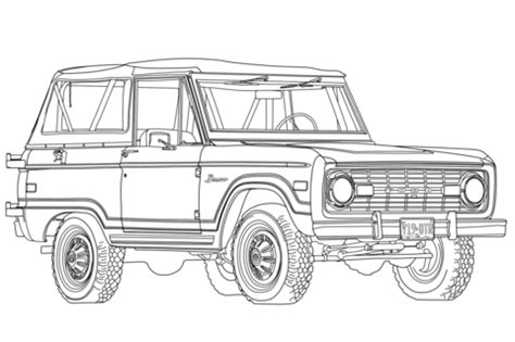 ford bronco coloring page  printable coloring pages