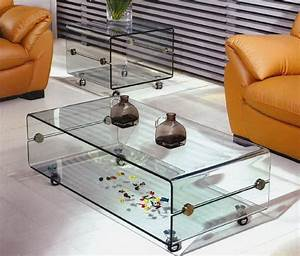 Coffee table on casters move it anytime homesfeed for Glass top coffee table with wheels