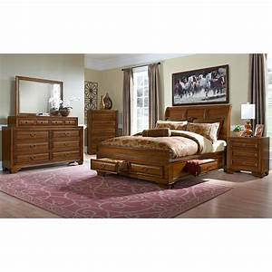Sanibelle king storage bed pine american signature for Bedroom furniture sets made in america