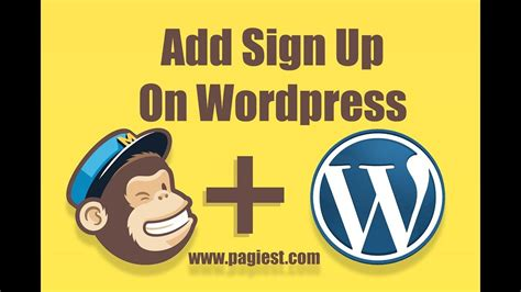 mailchimp embed signup form how to embed mailchimp sign up form on youtube