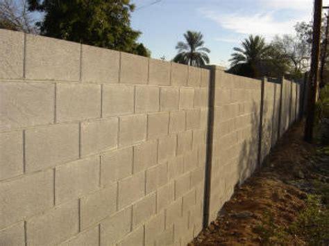 Brick and wood fences, cinder block fence ideas concrete
